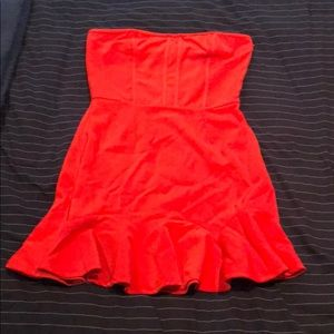 Pookie and Sebastian Strapless Red Dress